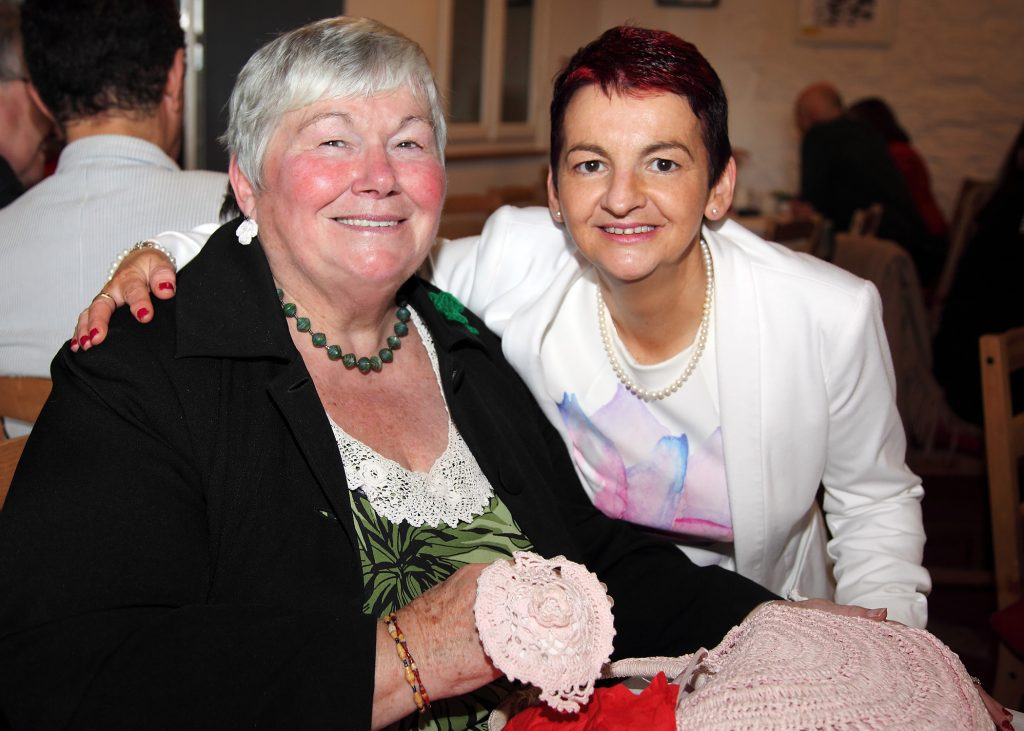 Florence Creighton with Manager Deirdre Kelly