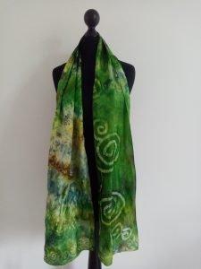 Green Silk Scarf