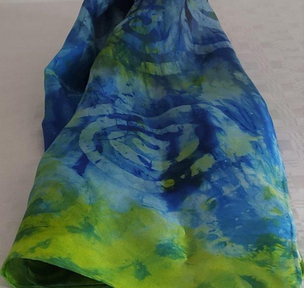 blue green scarf