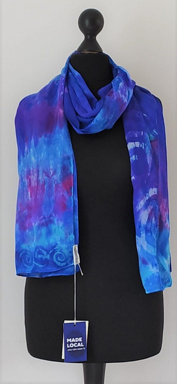 Deep blue scarf