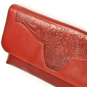 Tan Celtic Clutch Bag