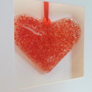 Glass heart card